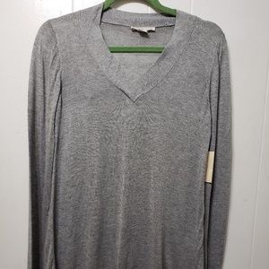Coldwater Creek Gray LS Swing Sweater